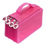 4-Tier 72-Slot Portable Oxford Cloth Art Paint Writing Pencil Pen Ruler Eraser Zipper Storage Holder...