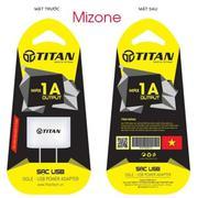 Củ sạc titan 1A dành cho smartphone - BH 12 tháng toàn quốc
