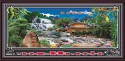 Tranh đồng hồ vạn niên,Phong cảnh-DH706