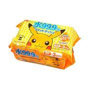 Giấy ướt LEC 99,9% nước tinh khiết Pokemon 80 tờ x 3 gói SS-281
