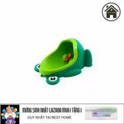 Bô vệ sinh chú ếch thông minh + + Tặng dụng cụ lấy ráy tai có đèn (Xanh)