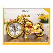 Đồng hồ báo thức mô hình moto (Gold) tặng 1 viên pin sạc AA