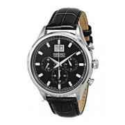 Đồng hồ thể thao nam dây da Seiko Quartz Chronograph SPC083P2 (Đen)