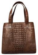 Túi xách da cá sấu Hoa Cà da nguyên con -A0114