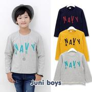 T shirt trẻ em tay dài in chữ trẻ trung JUNI BOYS