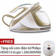 Bàn ủi hơi nước Philips GC9642 (Vàng) - Hãng Phân Phối Chính Thức + Tặng nồi cơm điện tử Philips HD4...