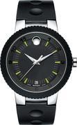 Movado Men's Swiss Sport Edge Rubber Watch 43mm