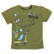 Áo phông bé trai Sweet 101 in hình chú cá sấu