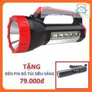 Đèn pin sạc siêu sáng kiêm đèn bàn KM2651 + Tặng Đèn pin siêu sáng SS551