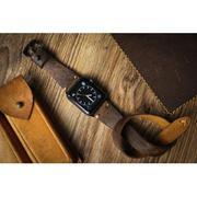 Dây đồng hồ da thật Handmade cho Apple Watch ( 38mm và 42mm ) – Dây Double tour -Mẫu DC 08 Da 123