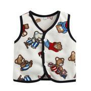 Áo Vest baby viền màu họa tiết  xinh xắn