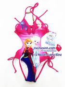 Áo bơi bé gái hình công chúa frozen mầu hồng