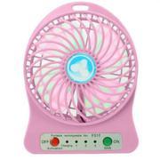 Quạt sạc tích điện mini usb fan (Hồng)