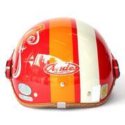 Mũ bảo hiểm ANDES Haly 180 tem (Đỏ Sọc Trắng)