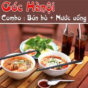 2 tô bún bò đậm đà, hấp dẫn & 2 ly nước ngọt mát lạnh -Góc Hà Nội