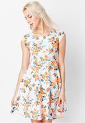 Đầm Xòe Vintage Họa Tiết Hoa