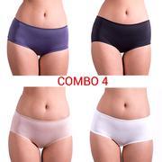 Combo 4 quần lót nữ hiphugger phối ren iBasic - V161