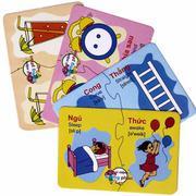 Thẻ học thông minh Flashcard song ngữ 16 chủ đề