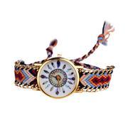 Leisure Fashion Feather Figure Weaving Lady Bracelet Table Multicolor
