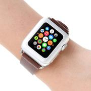 38mm Tempered Glass Screen Protector Full Coverage for Apple Watch Silver (Intl)