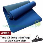 Thảm tập Yoga TPE cao cấp Zera GnG 6mm 2 lớp + Tặng túi đựng thảm