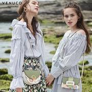 Túi xách bán nguyệt xanh da trời Venuco Madrid G03S311