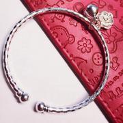 Lắc tay tròn bạc 925 Pinky Accessories LPT6