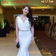 Đầm dạ hội kiểu cổ đổ thiết kế đuôi thời trang DDH379 - DDH379