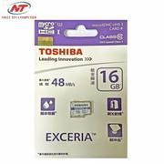 Thẻ nhớ MicroSDHC Toshiba Exceria 16GB Class 10 48MB/s (Trắng xanh)