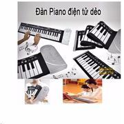 Đàn piano điện tử bàn phím cuộn dẻo 49 keys Loại 1 Công nghệ mới 2017 Loại 1 (trắng) + Móc khóa thôn...