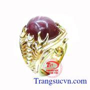 Nhẫn nam đá ruby hình bọ cạp