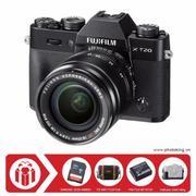 FujiFilm X-T20 KIT XF 18-55mm F/2.8-4 OIS (Đen) + Tặng kèm Thẻ nhớ Sandisk SDHC 32Gb 48Mb/s (320x) +...