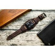 Dây đồng hồ da thật Handmade cho Apple Watch ( 38mm và 42mm ) – Mẫu BF02D66 CUFF