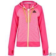 Áo khoác chống nắng sọc phối trơn màu hồng  - KI261603