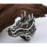 Nhẫn nam Titan Sparta trang sức hình đầu Rồng / Sparta Dragon Ring S18