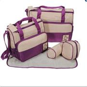Bộ túi 5 chi tiết cho mẹ và bé (Tím)