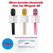 Micro hát Karaoke Q9 kèm loa Bluetooth + tặng sạc dự phòng Samsung 30000mAh