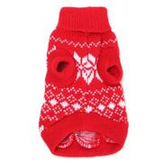Pet Dog Puppy Snowflake Knit Sweater Hoody Jumper Clothes Coat Costume Apparel XS - intl