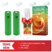 Bộ sản phẩm Kangertech Dripbox 160 (White) tặng 1 lọ tinh dầu New Liqua 10ml vị Trà đen + 2 pin 1865...