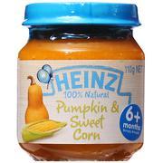 Dinh dưỡng đóng lọ Heinz bí đỏ và bắp ngọt nghiền