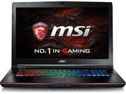 MSI GE72 7RF-073XVN - Core I7-7700HQ 4x2.8 GHz,Ram 16GB, SSD 256GB, Nvidia GeForce GTX 1050Ti (2GB G...