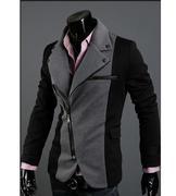 áo khoác nam dây kéo xéo
