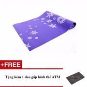Thảm tập yoga kèm túi đựng Verygood (Xanh) + Tặng kèm 1 dao gấp hình thẻ ATM