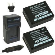 Bộ 2 viên pin và sạc WASABI NP-W126 cho Fujifilm X-E1 X-A2 X-M1 X-T1 (Đen)