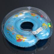 Inflatable Float Ring Baby Infant Swimming Neck Safety Aids Bath Swimming Beach Blue - Intl