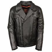 Áo Khoác Da Milwaukee Leather Asymmetrical Leather Motorcycle Jacket - AKDNMLALMJBlk