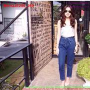 Quần jean nữ lưng cao thắt dây trẻ trung cá tính QJE296 (Q9)