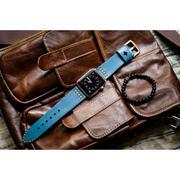 Dây đồng hồ da thật Handmade cho Apple Watch ( 38mm và 42mm ) – Mẫu BF02D6