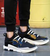 giày trainers phối da bóng