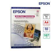 Giấy In Màu Epson 1 Mặt Mờ (Matte) A4 (21 x 29.7cm) 167gsm 50 Tờ x 2 (S041259) - Hàng Nhập Khẩu